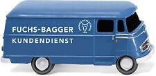 "WIKING 026503 H0 1:87 Kastenwagen(MB L 319)""Fuchs Bagger Kundendienst NEU in OVP"