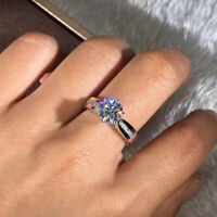 Fashion 925 Silver Ring White Sapphire Women Wedding Set Ring Engagement Jewelry