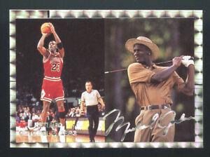 RARE GOLD 1994 THE NATIONAL CARD SHOW MICHAEL JORDAN BULLS HTF LOOK SP GOLF