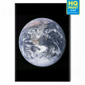 Planet Earth From Space Poster NASA Nature Print | A5 A4 A3 A2 A1 |