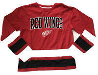 NWOT NHL Top-Women's M-Shirt-Red/Black-Detroit Red Wings-Long Sleeve-Crewneck