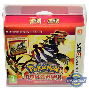 3DS Pokemon BOX PROTECTOR for Alpha Sapphire Omega Ruby 0.5mm PET DISPLAY CASE