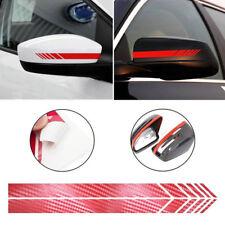 2PC 5D Carbon Fiber Car Rearview Mirror Sticker Racing Stripes Decal Accessories