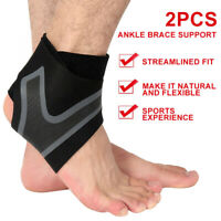 Ankle Support Strap Medical Compression Foot Brace Elasticated Bandage Wrap NEW