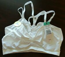 Bras Athletic Cheer Gym Low Impact 2 Pack White Size S/Small- NEW