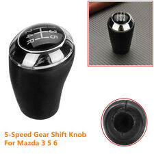 5 Speed PU Leather Car Manual Gear Shift Knob Stick Shifter Head For Mazda 3 5 6
