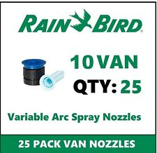 25 Rain Bird 10VAN 10' 0-360° Adjustable Variable Arc Spray Sprinkler Nozzles