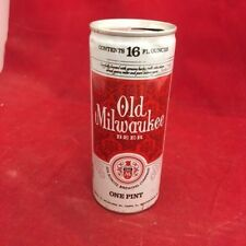 Old Milwaukee, empty beer can, pull tab, 16 oz