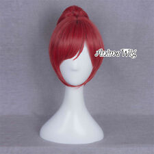 Anime for love live Nishikino Maki Red Short Women 28CM Cosplay Wig + Ponytail