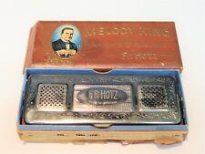 VINTAGE HARMONICA MELODY KING 64 REED 2 KEY F.R. HOTZ IN ORIGINAL BOX SEE PICS !