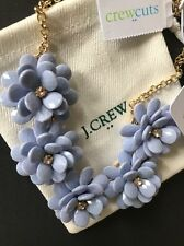 J Crew CrewCuts Girls Enamel Flower Necklace with J. Crew Jewelry Bag NEW