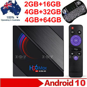 2021 H96 MAX- Android 10 Smart TV BOX Dual WiFi Bluetooth Media Player 6K H616
