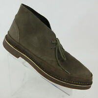 Clarks Bushacre Brown Leather Lace Up Desert Chukka Ankle Boots Mens Size 15 M