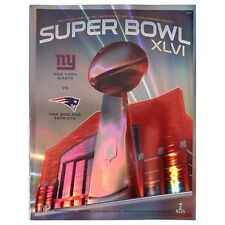 Super Bowl XLVI NFL New York Giants vs New England Patriots Hologram Programme