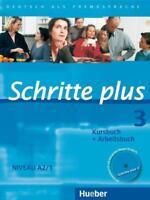 Schritte plus 3. Kursbuch + Arbeitsbuch mit Audio-CD zum Arbeitsbuch , Wie neu