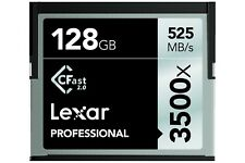 Lexar Professional 3500x CFast 2.0 128GB Memory Card for 4k Camera Camcorder