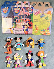 1993 Happy Meal Toys - MICKEY & FRIENDS EPCOT - Complete Set (8) + 2 Boxes