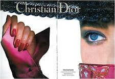 ▬► PUBLICITE ADVERTISING AD Collection haute couleur Christian DIOR 2 pages 1992