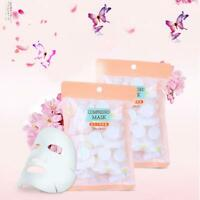 Beauty Compressed Cotton Facial Face Mask Sheet Paper Natural Skin Care New