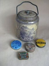 Biscuit tin Bassetts plus 4 other tins