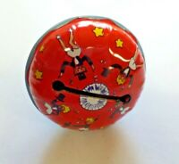 Vintage Kirchof Life of the Party Tin Litho Rattle Type Noisemaker Dancing Girls