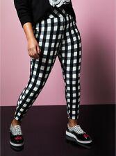 Torrid Betsey Johnson Black White Plaid Pixie Pant NWT New 1X