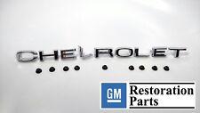 "Chrome Metal ""CHEVROLET"" Hood Letters Emblem Set, 1967-68 Chevy & GMC C/K Trucks"