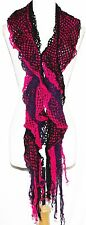 Hippie Boho Colorful Emo Gothic Steam Punk Gypsy Burning Man Ruffle Scarf Sash