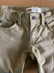Levis 511 Boys Jeans Size 8 Regular W24''x L22''Beige Khaki Pants Slim Fit