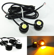 2 Universal Eagle Eye LED Amber DRL Daytime Running Fog Parking Light Motorcycle