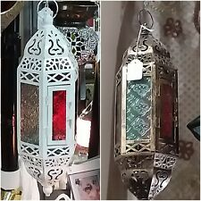 Moroccan Copper Glass Light/Candleholders Hanging
