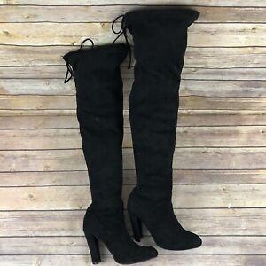 Steve Madden Black Thigh High Boots For Women For Sale Ebay