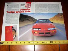 1989 PONTIAC TURBO GRAND PRIX - ORIGINAL ARTICLE
