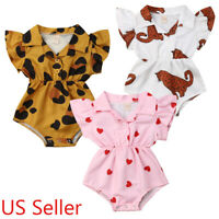 2019 Newborn Baby Girl T-Shirt Romper Bodysuit Jumpsuit Clothes Outfits Lots