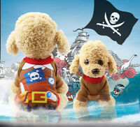 Halloween Pet Dog Cloth Pirate Costume Funny Dressup Warm Jumper Winter Apparel