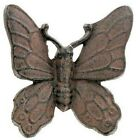 TWO Small Dark Brown Metal Cast Iron Butterfly Wall Decor. Life,dimension