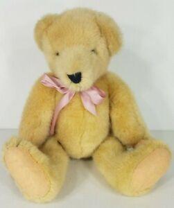 North American Bear Co Vander Bear tan fully jointed 13 in teddy bear plush 1982