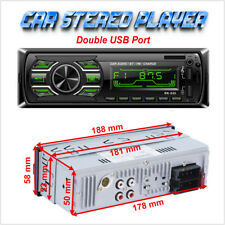 Bluetooth Car Stereo Audio Radio MP3 Player 1 Din FM/SD/TF AUX Two USB Charger