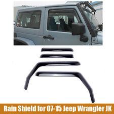 2007-2015 Jeep Wrangler JK Vent Window Visor Shades Visors Rain Guards 4 Door