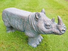 Wild Rhino Sculpture Kitchen Garden Patio Bench Stool Pub Bar Furniture Seating