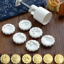 6 Animal Stamps Round Moon Cake Mould DIY Mooncake Mold Baking Decor Tool 50g