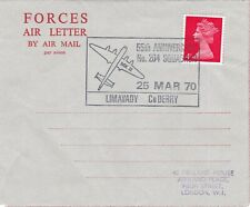GB 1970 4d 55th anniversary of 204 Squadron Forces Air Letter VGC