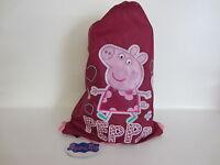 Bambini Peppa Pig Rosa/Viola Coulisse Allenamento/Scuola Borsa 42.5m x 31cm (