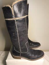 TIMBERLAND Shoreham Fold Down tall boots Dark Grey # 25668M size 6.5M