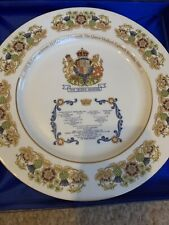 Aynsley QUEEN MOTHER 80th Birthday Plate * ROYAL FAMILY TREE * 1st Quality EXC
