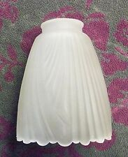 Frosted Bell with Vertical Drapes and Draped Edge Ceiling Fan or Lamp Shade #133