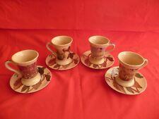 Antica Cioccolateria Eraclea Set 4 Tazzine e piattini Porcellana Pubblicitari