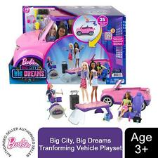 Barbie Big City, Big Dreams Tranforming Vehicle Playset, Gift for 3-7 Years Old