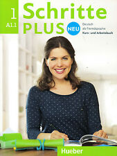 Hueber SCHRITTE PLUS NEU 1 Kursbuch + Arbeitsbuch A1.1 mit CD @NEW@ 2015 Edition