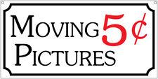 Moving Pictures- 6x12 Aluminum Tv Movie prop sign